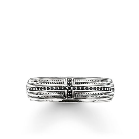 "band ring ""cross pavé"" from the Rebel at heart collection in the THOMAS SABO online store"