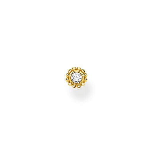 Single ear stud flower white stone gold from the Charming Collection collection in the THOMAS SABO online store