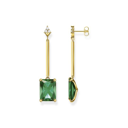 Earrings green stone gold from the  collection in the THOMAS SABO online store