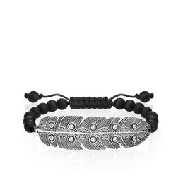 "bracelet ""Ethnic Feather"" from the Love Bridge collection in the THOMAS SABO online store"