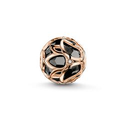 "Bead ""fiore di loto nero"" from the Karma Beads collection in the THOMAS SABO online store"