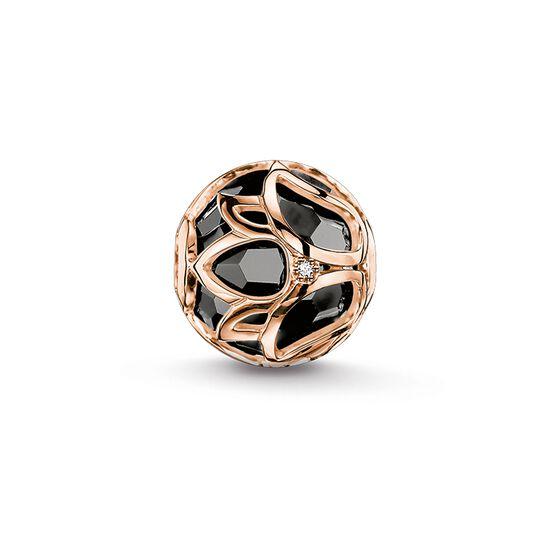 """Bead """"flor de loto negro"""" de la colección Karma Beads en la tienda online de THOMAS SABO"""