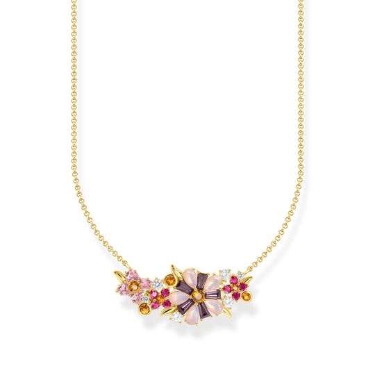Necklace flowers colourful stones gold from the  collection in the THOMAS SABO online store