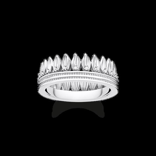 Ring Krone Blätter silber aus der Glam & Soul Kollektion im Online Shop von THOMAS SABO