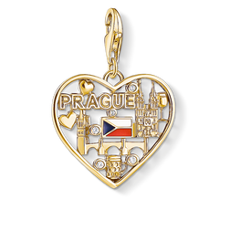 Charm-Anhänger We love Prague gold aus der Charm Club Collection Kollektion im Online Shop von THOMAS SABO
