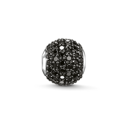 Bead black diamond pavé from the Karma Beads collection in the THOMAS SABO online store