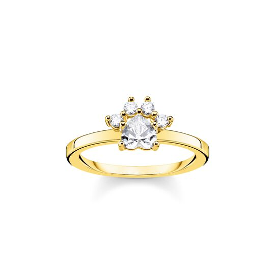 ring paw cat gold from the  collection in the THOMAS SABO online store