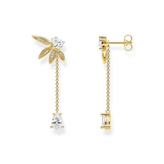 earrings leaves with chain large gold from the  collection in the THOMAS SABO online store