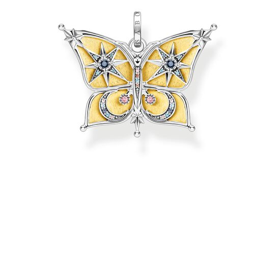 Pendant butterfly with moon & stars gold from the Glam & Soul collection in the THOMAS SABO online store