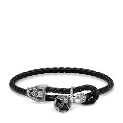 """leather strap """"Royalty cross"""" from the Rebel at heart collection in the THOMAS SABO online store"""