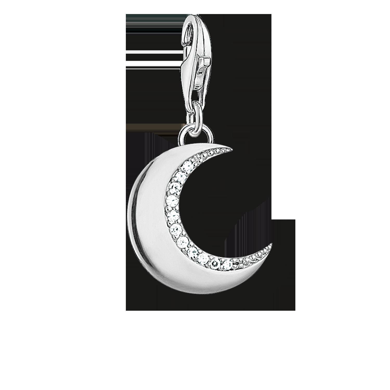 Thomas Sabo Femme Pendentif Charm Lune Nacre Argent Sterling 925 ; Plaqu/é Or Jaune 18 Carats Y0005-429-14
