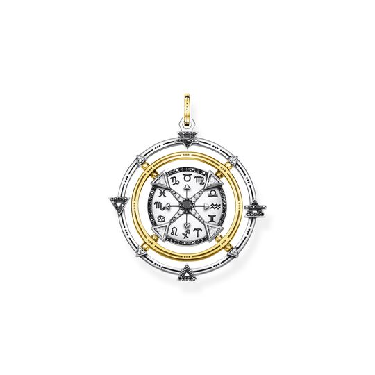 Pendant amulet elements of nature black-gold from the  collection in the THOMAS SABO online store
