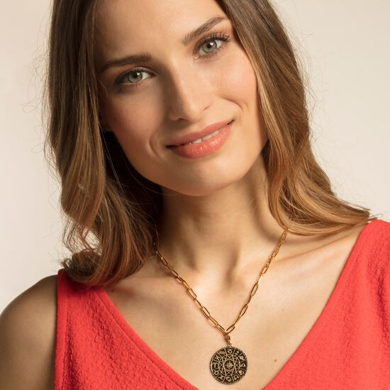 """Charm pendant """"Star sign coin gold"""" from the  collection in the THOMAS SABO online store"""