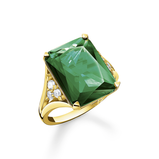 Ring green stone gold from the Glam & Soul collection in the THOMAS SABO online store