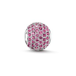 "Bead ""pink sapphire pavé"" from the Karma Beads collection in the THOMAS SABO online store"