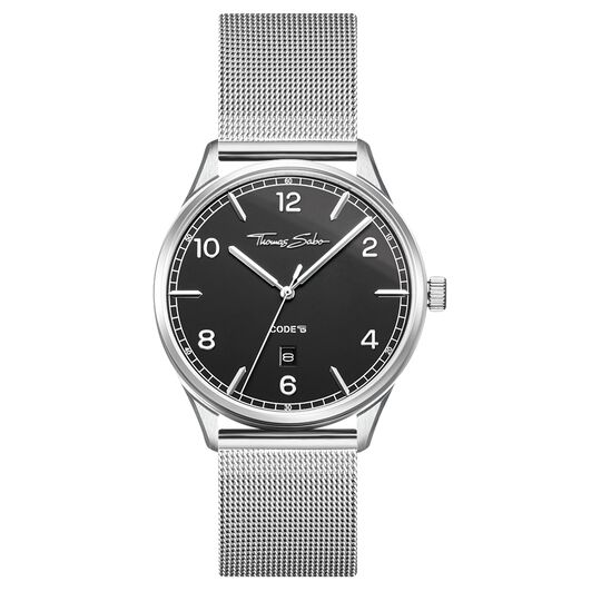 Watch unisex CODE TS silver black from the Glam & Soul collection in the THOMAS SABO online store