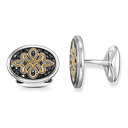 "cufflinks ""diamond Love Knot"" from the Rebel at heart collection in the THOMAS SABO online store"