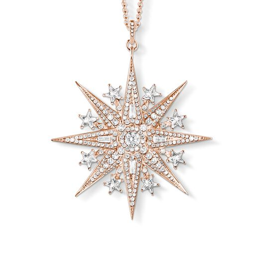 Pendant on chain Magic Star Rose gold from the  collection in the THOMAS SABO online store