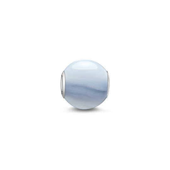 Bead blue chalcedony from the Karma Beads collection in the THOMAS SABO online store