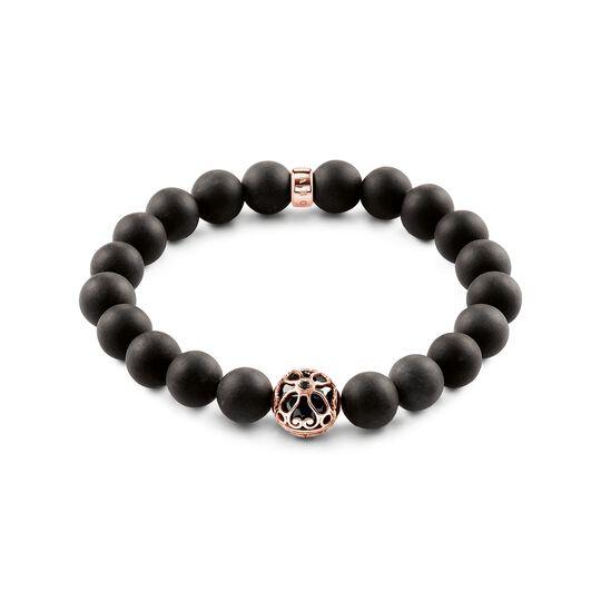 Bracelet fleur de lotus noire de la collection Glam & Soul dans la boutique en ligne de THOMAS SABO