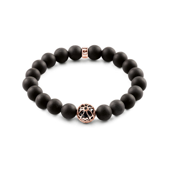 bracelet black lotos blossom from the Glam & Soul collection in the THOMAS SABO online store