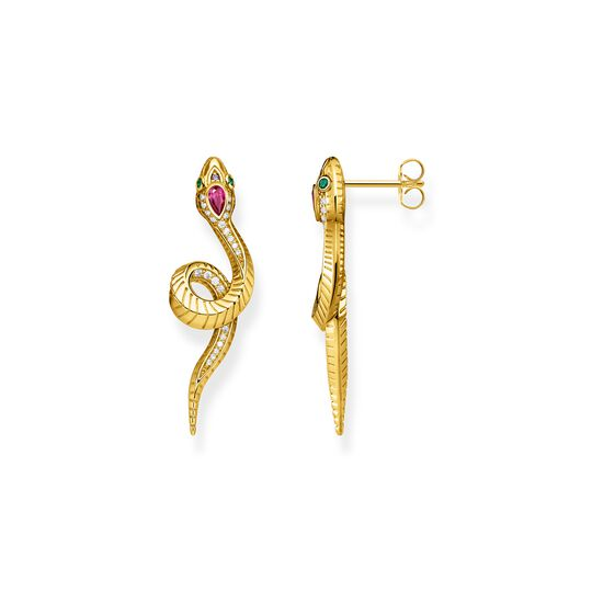 Earrings snake gold from the  collection in the THOMAS SABO online store