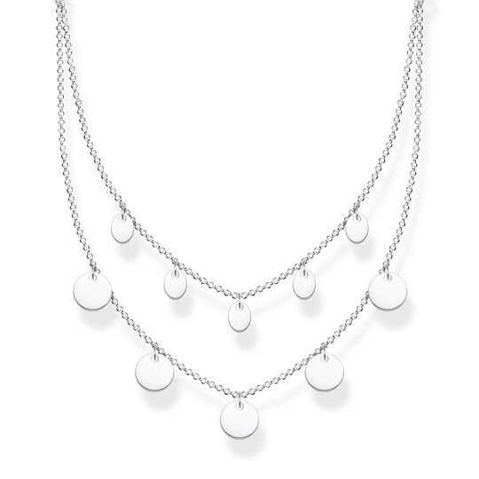 Necklace wih discs silver from the Glam & Soul collection in the THOMAS SABO online store