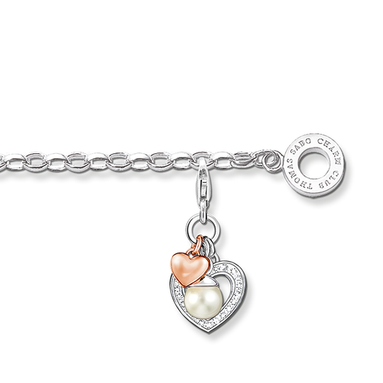 bracelet Charm cœur de la collection Charm Club dans la boutique en ligne de THOMAS SABO