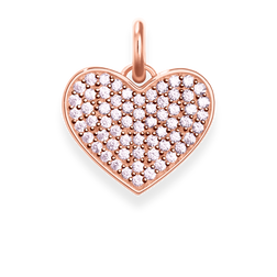 pendant pink heart pavé from the Love Bridge collection in the THOMAS SABO online store