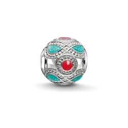 "Bead ""etnico turchese e rosso"" from the Karma Beads collection in the THOMAS SABO online store"