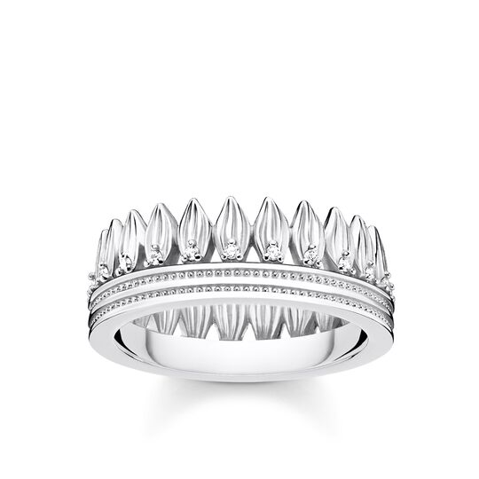 ring leaves crown silver from the Glam & Soul collection in the THOMAS SABO online store