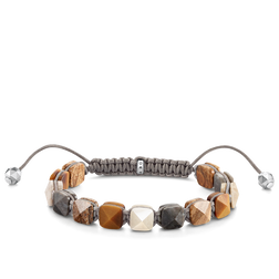 "bracelet ""aspect riveté marron"" de la collection Glam & Soul dans la boutique en ligne de THOMAS SABO"