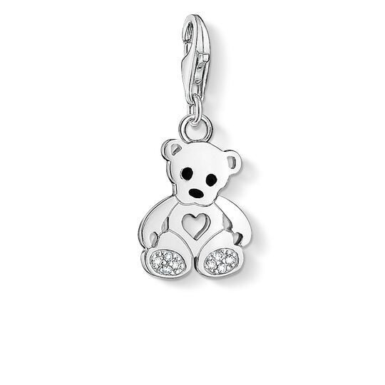Charm pendant teddy bear with heart from the  collection in the THOMAS SABO online store