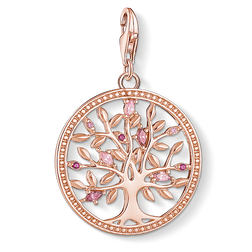Charm pendant Tree of Love pink from the  collection in the THOMAS SABO online store