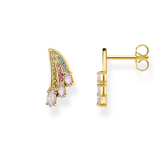 ear studs bright gold-coloured hummingbird wing from the Glam & Soul collection in the THOMAS SABO online store