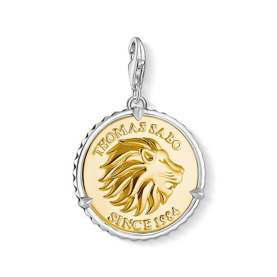 Charm pendant disc lion from the Charm Club collection in the THOMAS SABO online store