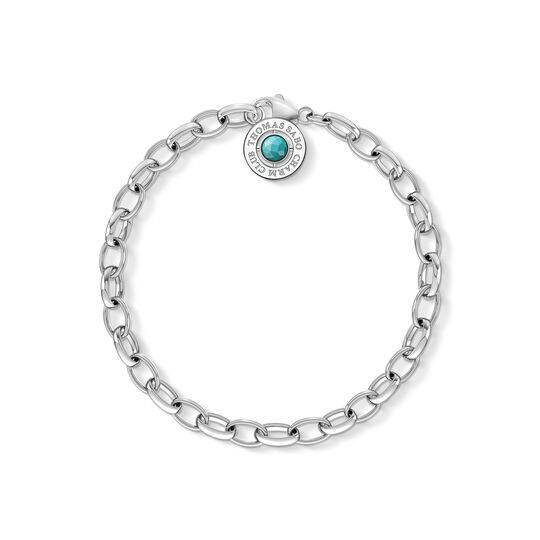 Charm bracelet turquoise from the Charm Club collection in the THOMAS SABO online store