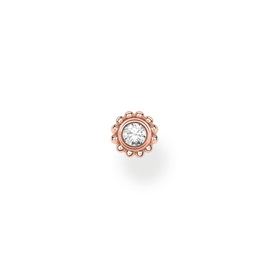 Single ear stud flower white stone rose gold from the Charming Collection collection in the THOMAS SABO online store