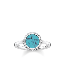 "anello ""Pietra turchese"" from the Glam & Soul collection in the THOMAS SABO online store"
