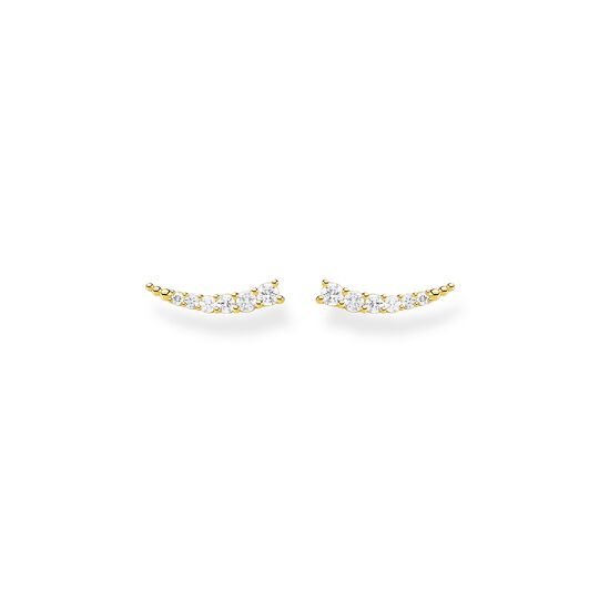 Ear climber white Stones gold from the Charming Collection collection in the THOMAS SABO online store