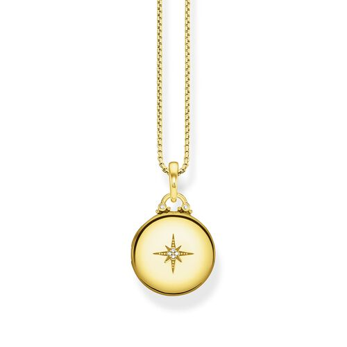 """necklace """"Locket gold round"""" from the Glam & Soul collection in the THOMAS SABO online store"""