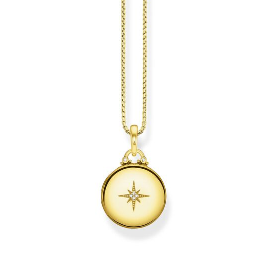 "necklace ""Locket gold round"" from the Glam & Soul collection in the THOMAS SABO online store"