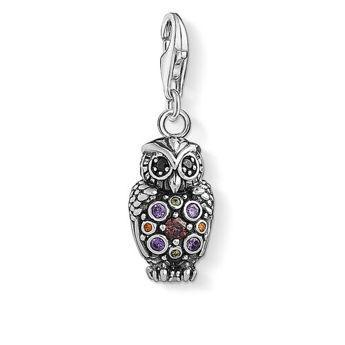 "Charm pendant ""Sparkling owl "" from the  collection in the THOMAS SABO online store"