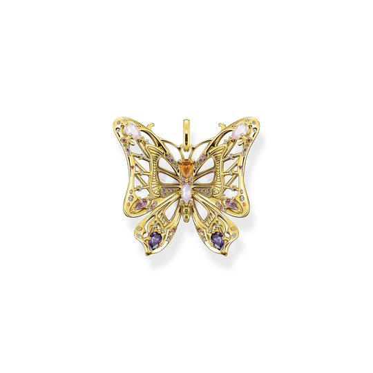 Pendant butterfly colourful stones silver-gold from the Glam & Soul collection in the THOMAS SABO online store