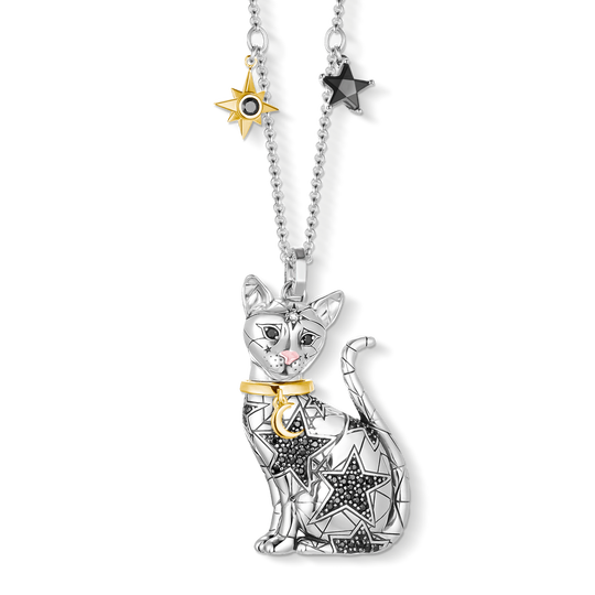 Pendant on chain Magic Cat from the  collection in the THOMAS SABO online store