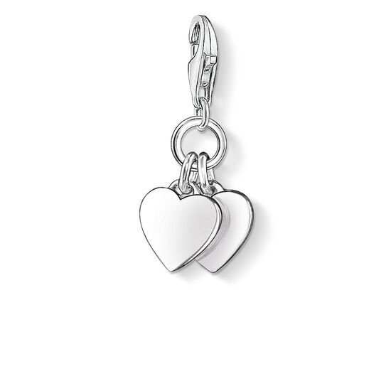 Charm pendant two hearts 0836 charm club thomas sabo usa charm pendant quottwo heartsquot from the collection in the thomas aloadofball Image collections