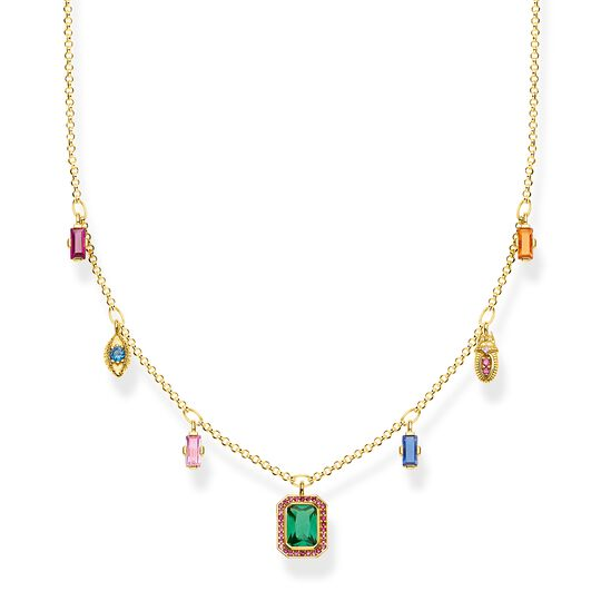Necklace colourful lucky symbols, gold from the  collection in the THOMAS SABO online store