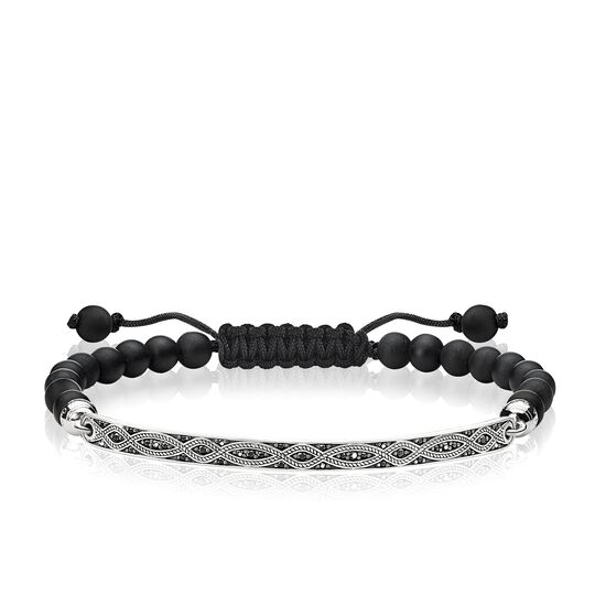 bracelet black love knot from the Love Bridge collection in the THOMAS SABO online store