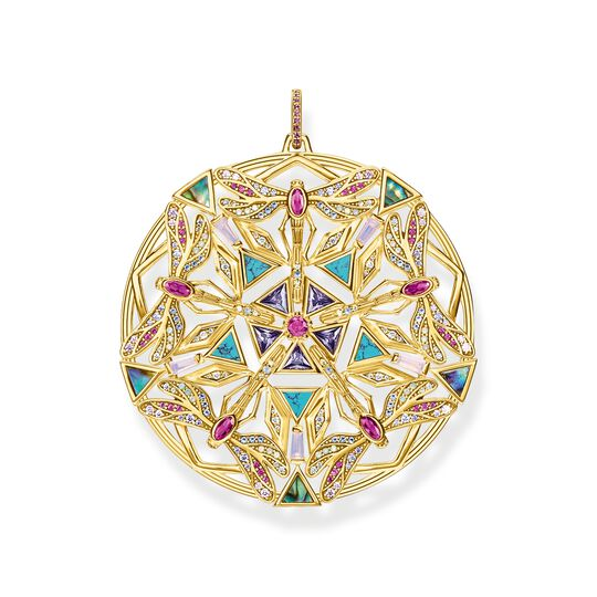 Pendant amulet kaleidoscope dragonfly gold from the  collection in the THOMAS SABO online store