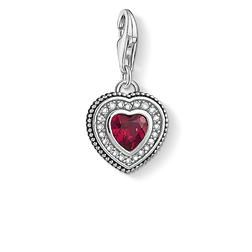 Charm pendant Heart with red stone from the Charm Club Collection collection in the THOMAS SABO online store